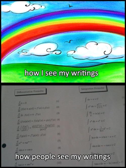 how I perceive my writings
