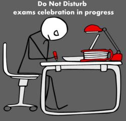 exam celebration